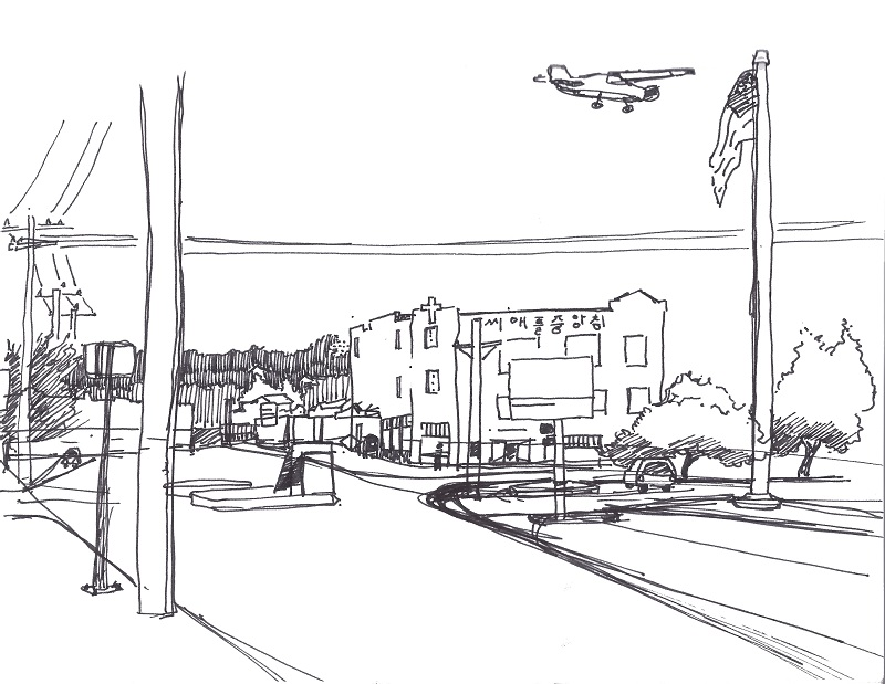 Sketch of Georgetown in Seattle, Washington